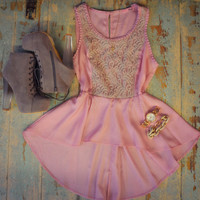Charter Chariot Pink Lace Peplum Top