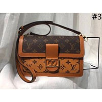 LV new women's classic old flower retro messenger bag shoulder bag Messenger bag #3