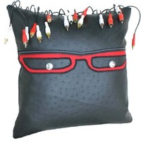 Geek Pillow with Funky  Dreadlocks by PillowThrowDecor on Etsy