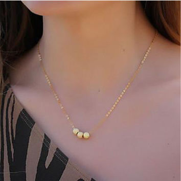 Shiny New Arrival Chain Simple Design Gold Necklace = 4831028292