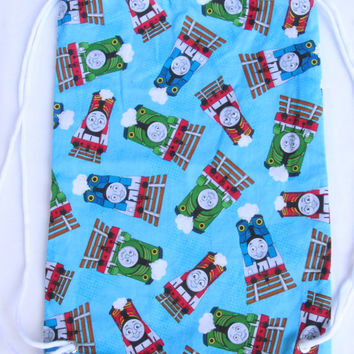 Child's Drawstring Backpack, Thomas the Train, Fully Lined Drawstring Backpack, Thomas and Friends