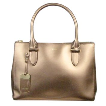 Ralph Lauren Gold Large Satchel Handbag