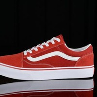 Best Deal Online Vans Old Skool Low Top Men Flats Shoes Canvas Sneakers Women Sport Shoes White Red