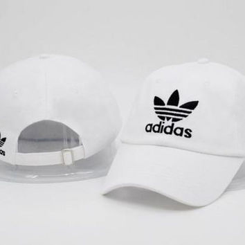 White AD Baseball Cap Hat