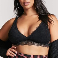 Plus Size Surplice Lace Bralette