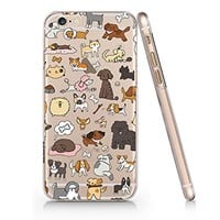 Cute Dogs Clear Transparent Plastic Phone Case Phone Cover for Iphone 6 6s_ SUPERTRAMPshop (iphone 6)