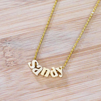 Name Your Necklace - Initial Necklace Lowercase Letter Necklace, Name Necklace, Bridesmaid Gift, Gift Idea, Personalized Gift, Gift for her