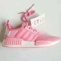 special offer adidas nmd girl pink trending running sports shoes