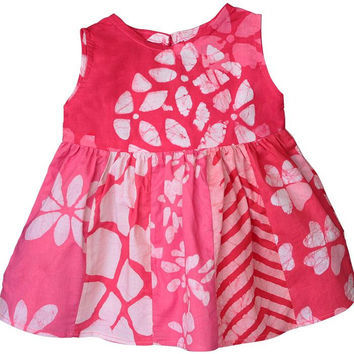 Baby Girl Batik Sundress-Primrose
