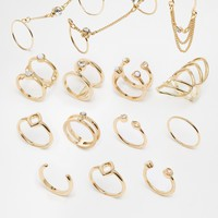 New Look Skinny Connected Multipack Ring at asos.com