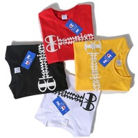Champion Fashion Print Letters Shirt Top Tee