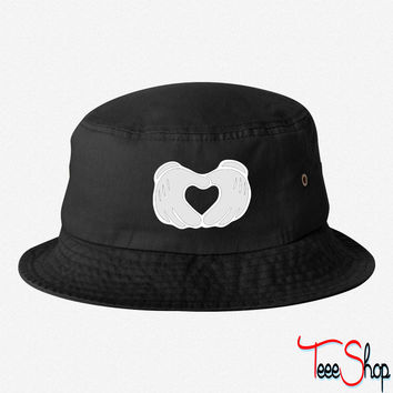 Mickey Mouse Hands Heart bucket hat
