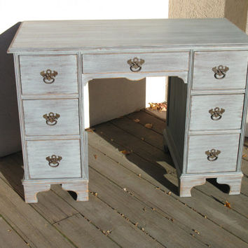 REDUCED Chic and Shabby Blue Grey Desk