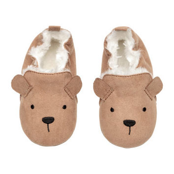 H&M Faux Fur-lined Slippers $12.99
