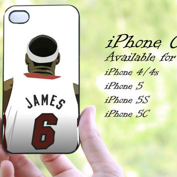 lebron james basketball player design iphone case for iphone 4 case, iphone 4s case, iphone 5 case, iphone 5s case, iphone 5c case