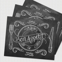 Book of 25 Tear-Out Placemats - Bon Appétit