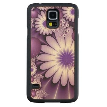 Falling in Love Abstract Flowers & Hearts Fractal Carved® Maple Galaxy S5 Case