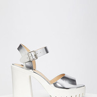 Lug Sole Metallic Platform Sandals