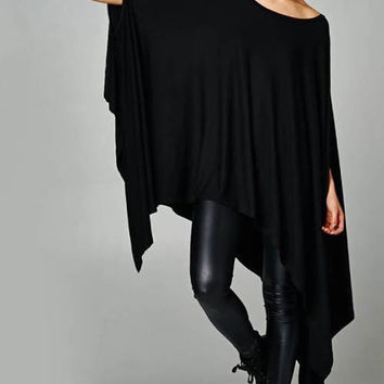 Half Batwing Sleeve Dress