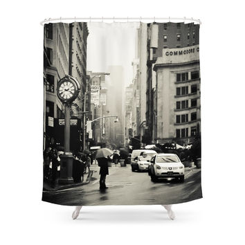 Society6 New York City - 5th Avenue In The Rain Shower Curtains