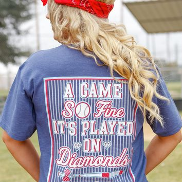 Jadelynn Brooke Game So Fine Baseball Shirt