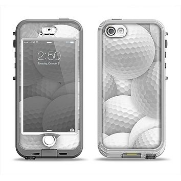 The Golf Ball Overlay Apple iPhone 5-5s LifeProof Nuud Case Skin Set