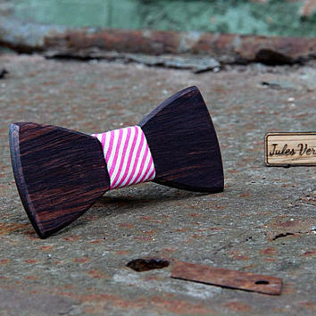 FREE SHIPPING till 15th October! Handcrafted Wooden Bow tie . Rosewood . Handicraft unique men accessory. Manly gift. #JVbowtie