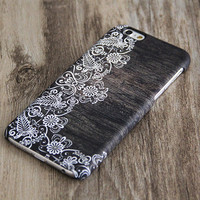 White Damask Wood Print iPhone 6 Case,iPhone 6 Plus Case,iPhone 5s Case,iPhone 5C Case,4/4s Case,Samsung Galaxy S5/S4/S3/Note 3/Note 2 Case
