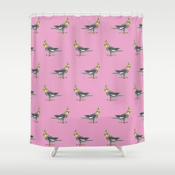 Cockatiel Shower Curtain by Savousepate