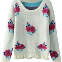 Must-Have Rose Sweater - OASAP.com
