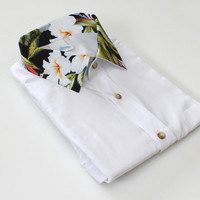ANDCLOTHING — AND.ALSO Tropical Collar Shirt