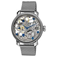 Stainless Mechanical Skeleton Mesh Bracelet Watch