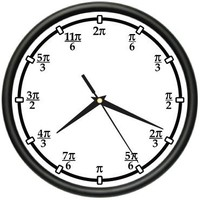 PI Wall Clock teacher math professor classroom radians