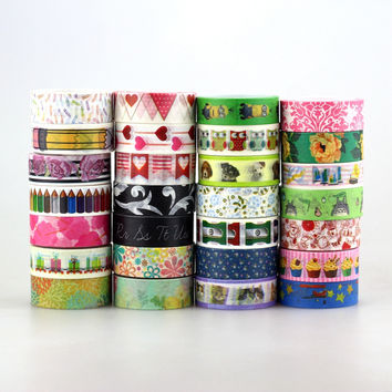 15mm Japanese Washi Tape Decorative Adhesive Tapes Flower and Totoro pattern Masking Paper Tape Diary Sticker Gift Free shipping