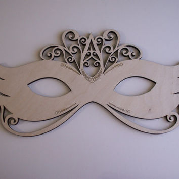 Masquerade Mask Laser Cutouts,Unfinished Wood,Home Decor,Wall Art,Wreaths,Door Hangers,Wood Shapes,Woodcraft,Ornament,Mardi Gras Decorations