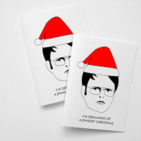 Dwight Schrute Christmas cards