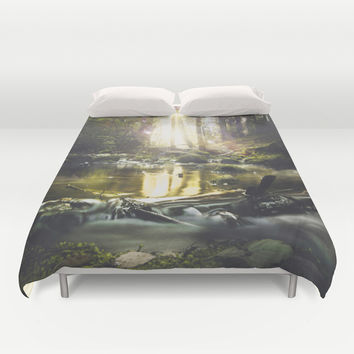 Ohne dich Duvet Cover by HappyMelvin