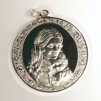 1974 Franklin Mint Sterling Silver Mother's Day Medal Pendant