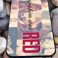loving him was RED taylor swift for iPhone 4/4s/5/5S/5C/6, Samsung S3/S4/S5 Unique Case *95*