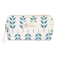 Blue Floral Cosmetic Pouch