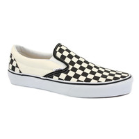 Vans Checkerboard Canvas Print Slip On Shoe