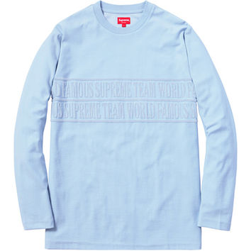 Supreme: Terry Jacquard L/S Top - Light Blue