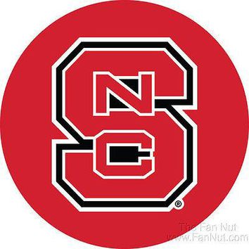 """North Carolina State Wolfpack NC DECAL RR 4"""" Round Vinyl Auto Home University"""