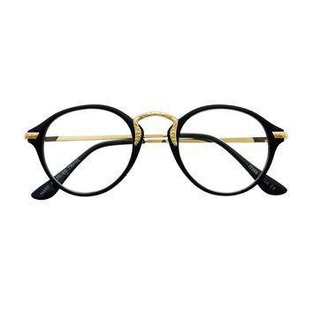 True Vintage Fashion Style Clear Lens Round Eyeglasses Frames R2900