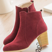 Apricot Ankle Boots