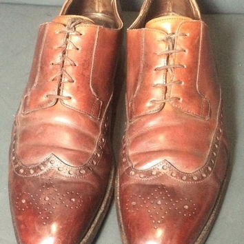 Crockett & Jones Brogue Oxford Lace up Brown Leather Shoes Men's Size 9.5 D Size 42