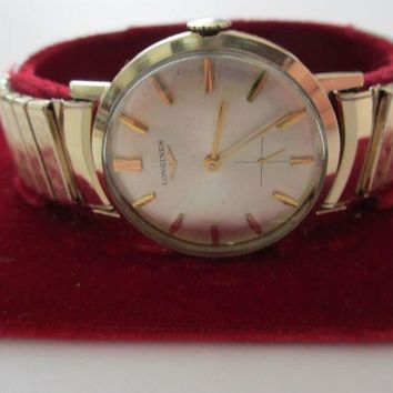 ONETOW Vintage Longines 10K Yellow Gold Filled 17 Jewels Watch in Box