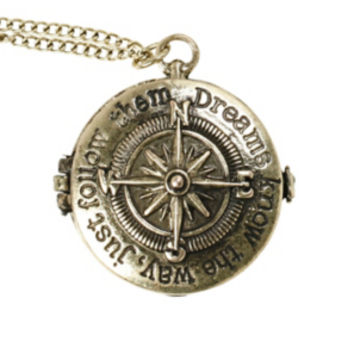 LOVEsick Compass Locket Necklace