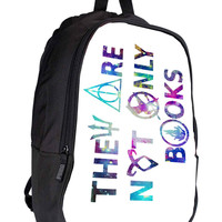 They Are Not Only Books harry potter the hunger games 3c3b8907-718e-482e-8467-3ec2161a19a3 for Backpack / Custom Bag / School Bag / Children Bag / Custom School Bag *02*