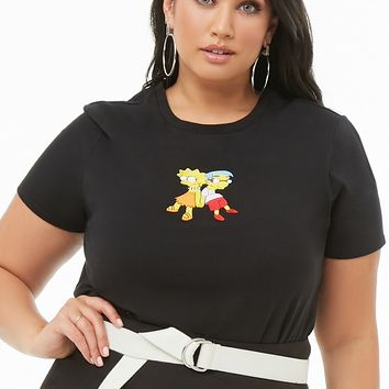 Plus Size The Simpsons Lisa & Milhouse Graphic Tee